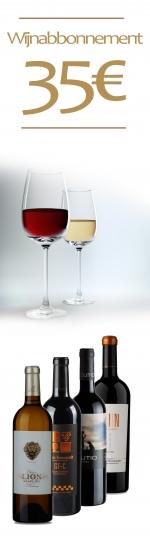 12 maanden het wijnabonnement van 35€