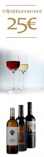 12 maanden het wijnabonnement van 25€